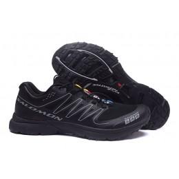 Salomon S-LAB Sense Speed Trail Running In Black Gray Shoe For Men