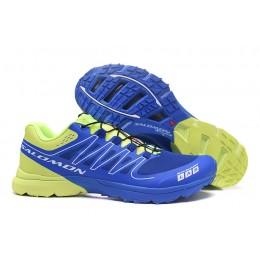 Salomon S-LAB Sense Speed Trail Running In Blue Green Shoe For Men