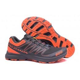 Salomon S-LAB Sense Speed Trail Running In Gray Orange Shoe For Men