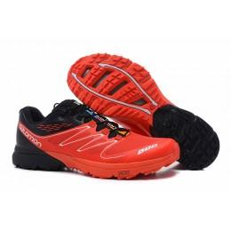 Salomon S-LAB Sense Speed Trail Running In Red Black Shoe For Men