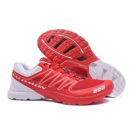 Salomon S-LAB Sense Speed Trail Running In Red White Shoe For Men