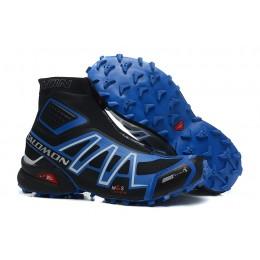 Salomon Snowcross CS Trail Running In Black Blue Shoe For Men