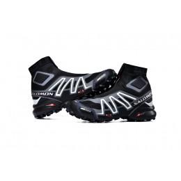 Salomon Snowcross CS Trail Running In Black Gray Shoe For Men