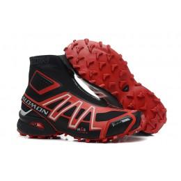 Salomon Snowcross CS Trail Running In Black Red Shoe For Men