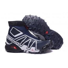 Salomon Snowcross CS Trail Running In Blue White Shoe For Men