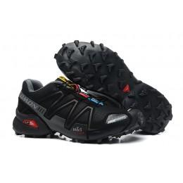 Salomon Speedcross 3 CS Trail Running In Black Gray Shoe For Men