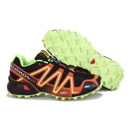 Salomon Speedcross 3 CS Trail Running In Black Orange Shoe For Men