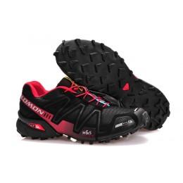 Salomon Speedcross 3 CS Trail Running In Black Red Shoe For Men