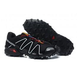 Salomon Speedcross 3 CS Trail Running In Black White Red Shoe For Men