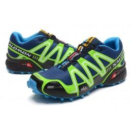 Salomon Speedcross 3 CS Trail Running In Blue Fluorescent Green Shoe For Men