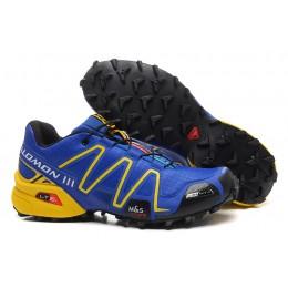 Salomon Speedcross 3 CS Trail Running In Blue Yellow Shoe For Men
