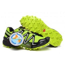 Salomon Speedcross 3 CS Trail Running In Fluorescent Green Silver Shoe For Men