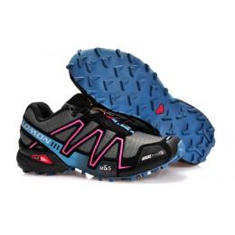 Salomon Speedcross 3 CS Trail Running In Gray Rose Red Shoe For Men