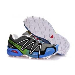 Salomon Speedcross 3 CS Trail Running In Grey White Blue Shoe For Men