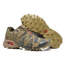 Salomon Speedcross 3 CS Trail Running In Sand Camouflage Shoe For Men