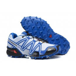 Salomon Speedcross 3 CS Trail Running In White Blue Shoe For Men