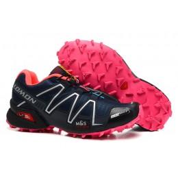 Salomon Speedcross 3 CS Trail Running In Black Rose Red Shoe For Women