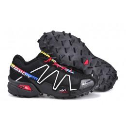 Salomon Speedcross 3 CS Trail Running In Black Silver Shoe For Women