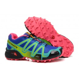 Salomon Speedcross 3 CS Trail Running In Blue Green Shoe For Women