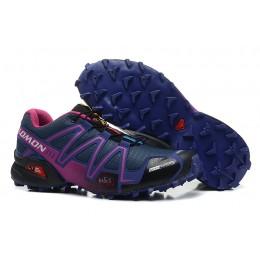 Salomon Speedcross 3 CS Trail Running In Blue Purple Shoe For Women