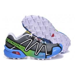 Salomon Speedcross 3 CS Trail Running In Gray Blue Shoe For Women