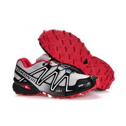 Salomon Speedcross 3 CS Trail Running In Grey Black Red Shoe For Women