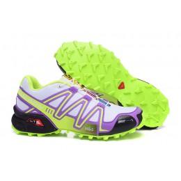 Salomon Speedcross 3 CS Trail Running In Grey Purple Shoe For Women