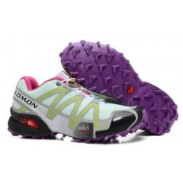 Salomon Speedcross 3 CS Trail Running In Lake Blue Purple Shoe For Women