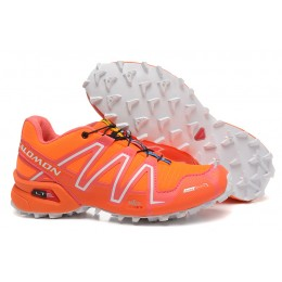 Salomon Speedcross 3 CS Trail Running In Orange Shoe For Women