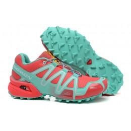 Salomon Speedcross 3 CS Trail Running In Orange Lake Blue Shoe For Women