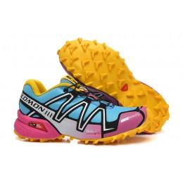 Salomon Speedcross 3 CS Trail Running In Pink Yellow Shoe For Women