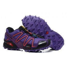 Salomon Speedcross 3 CS Trail Running In Purple Black Shoe For Women