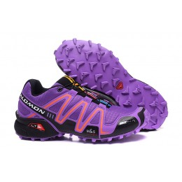 Salomon Speedcross 3 CS Trail Running In Purple Orange Shoe For Women