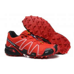 Salomon Speedcross 3 CS Trail Running In Red Black Shoe For Women