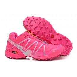 Salomon Speedcross 3 CS Trail Running In Rose Red Silver Shoe For Women