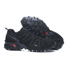 Salomon Speedcross 3 Adventure In Black Gray Shoe For Men