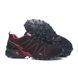 Salomon Speedcross 3 Adventure In Black Red Shoe For Men