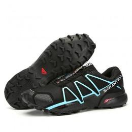 Salomon Speedcross 4 Trail Running In Black Blue Shoe For Men