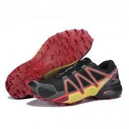 Salomon Speedcross 4 Trail Running In Black Orange Shoe For Men