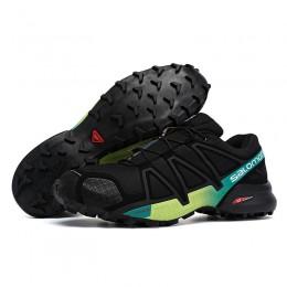 Salomon Speedcross 4 Trail Running In Black Yellow Green Shoe For Men