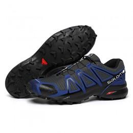 Salomon Speedcross 4 Trail Running In Blue Black Shoe For Men