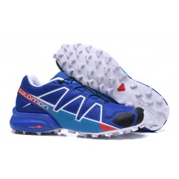 Salomon Speedcross 4 Trail Running In Blue Blue Shoe For Men