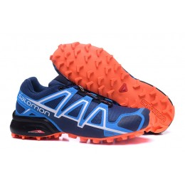 Salomon Speedcross 4 Trail Running In Blue Orange Shoe For Men