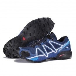 Salomon Speedcross 4 Trail Running In Deep Blue Shoe For Men