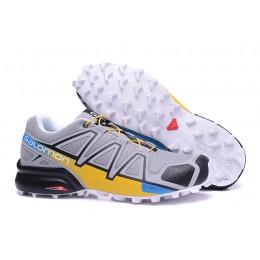 Salomon Speedcross 4 Trail Running In Gray Yellow Shoe For Men
