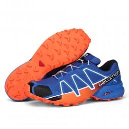 Salomon Speedcross 4 Trail Running In Orange Blue Shoe For Men