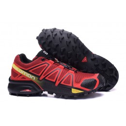 Salomon Speedcross 4 Trail Running In Red Black Shoe For Men