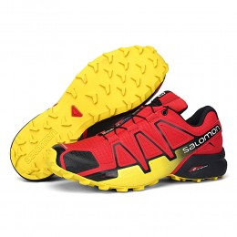 Salomon Speedcross 4 Trail Running In Red Yellow Shoe For Men