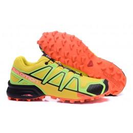 Salomon Speedcross 4 Trail Running In Yellow Orange Shoe For Men