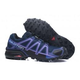 Salomon Speedcross 4 Trail Running In Blue Purple Shoe For Women